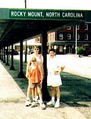 Nate, Mary, Helen at Rocky Mount Train Station